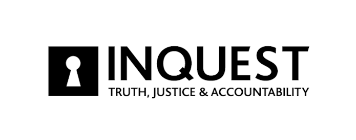 Logo for INQUEST, showing a key hole and the words 'truth, justice & accountability'
